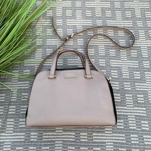 Kate Spade pebbled leather and suede bag